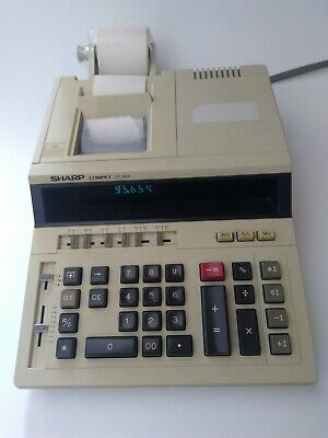 Sharp Compet CS-1606 calculator Electronic printer Adding Machine print
