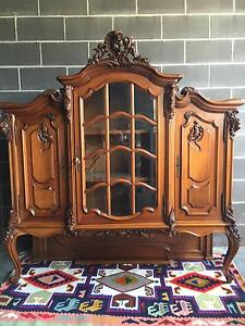 Vintage Antique French Display unit/ Bookcase/ Sideboard Berowra Hornsby Area Preview