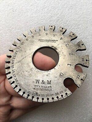 Vintage Brown Sharpe - W M - Standard Wire Gage