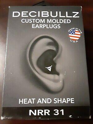 Decibullz Custom Molded Earplugs 31db Highest Nrr Comfortable Hearing Protection