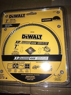 Dewalt 7 Xp Diamond Turbo Rim Smooth Cutting Blade Dw4702 Wet Or Dry