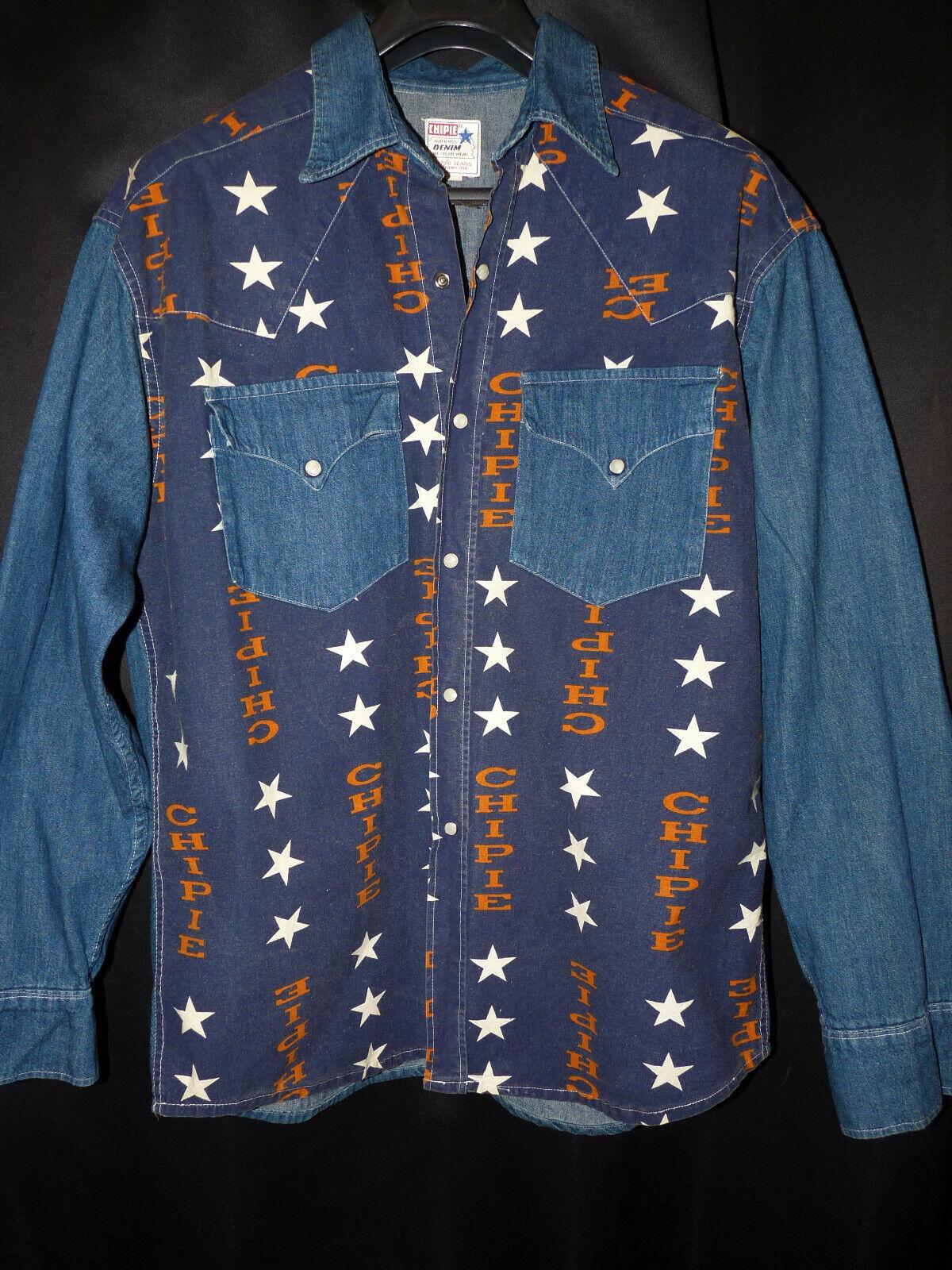 Chemise en jean rare vintage chipie jeans french style western country Étoile xl