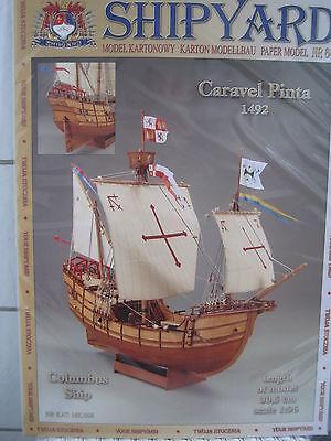 Pinta Columbus Segelschiffe 1:96 Kartonbausatz NEU Bastelbogen