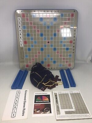 Vintage 1976 Deluxe Scrabble Turntable Edition Selchow & Righter Game, Complete