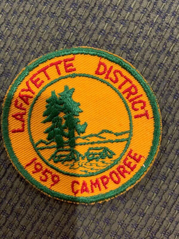 1959 C/E Lafayette District Camporee Patch BSA