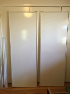 White sliding doors and track FREE