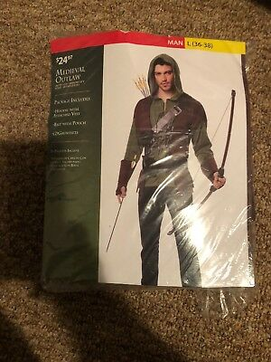 Halloween Costume Man Medieval Outlaw Large 36-38 New - Mens Gothic Halloween Costumes