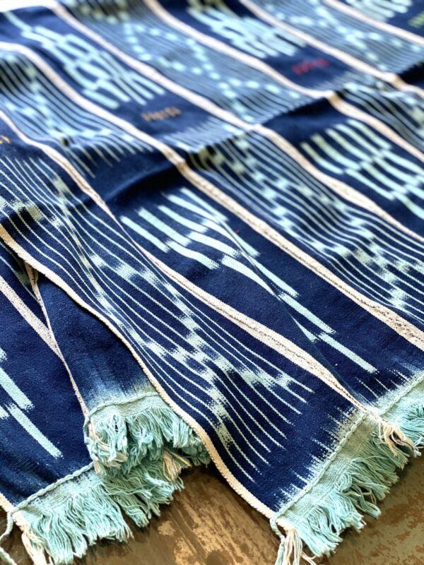 Vintage African Indigo with Aqua Blue | Baule Mudcloth No. 08