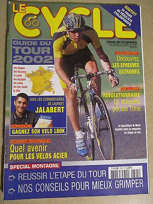 LE CYCLE N°305 : JUILLET 2002 : GUIDE DU TOUR DE FRANCE AVEC CARTE POSTER