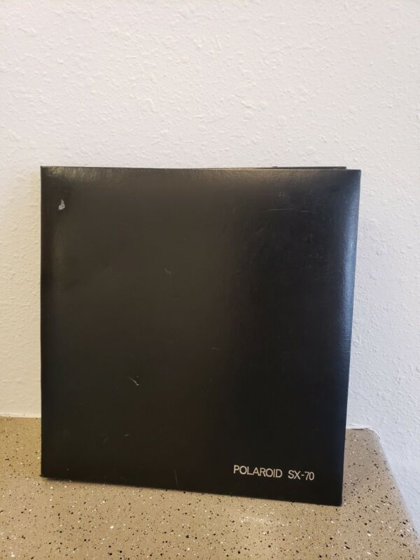 Rare Vintage Polaroid SX-70 Photo Album Holds 56 Photos Large Black Retro
