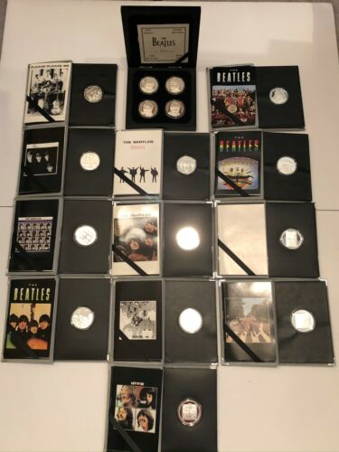 Enviromint Beatles 30th Anniversary .999 Pure Silver Medallions Set of 16 1994