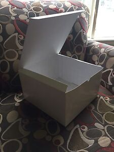 White cardboard boxes for sale