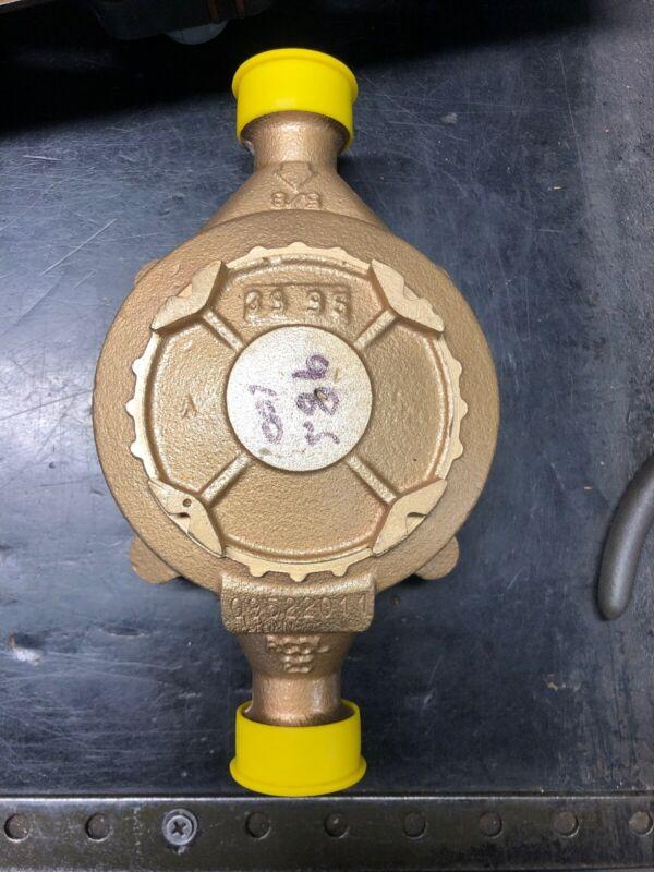 Badger 5/8x3/4 M25 Brass Water Meter NO REGISTER