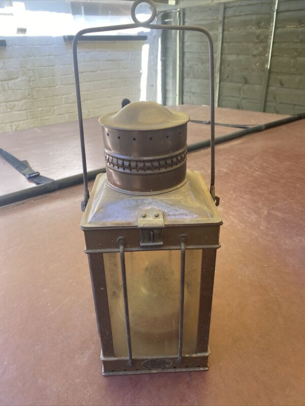 Large Davey And Co Copper Lantern 15 Inches High