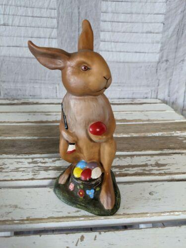 Marolin paper mache Germany German Easter bunny rabbit decor eggs