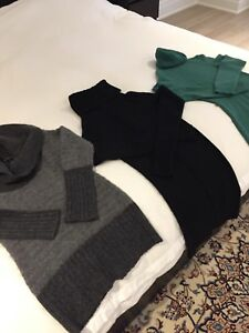 Theory, Juicy and Holt Renfrew cashmere sweaters