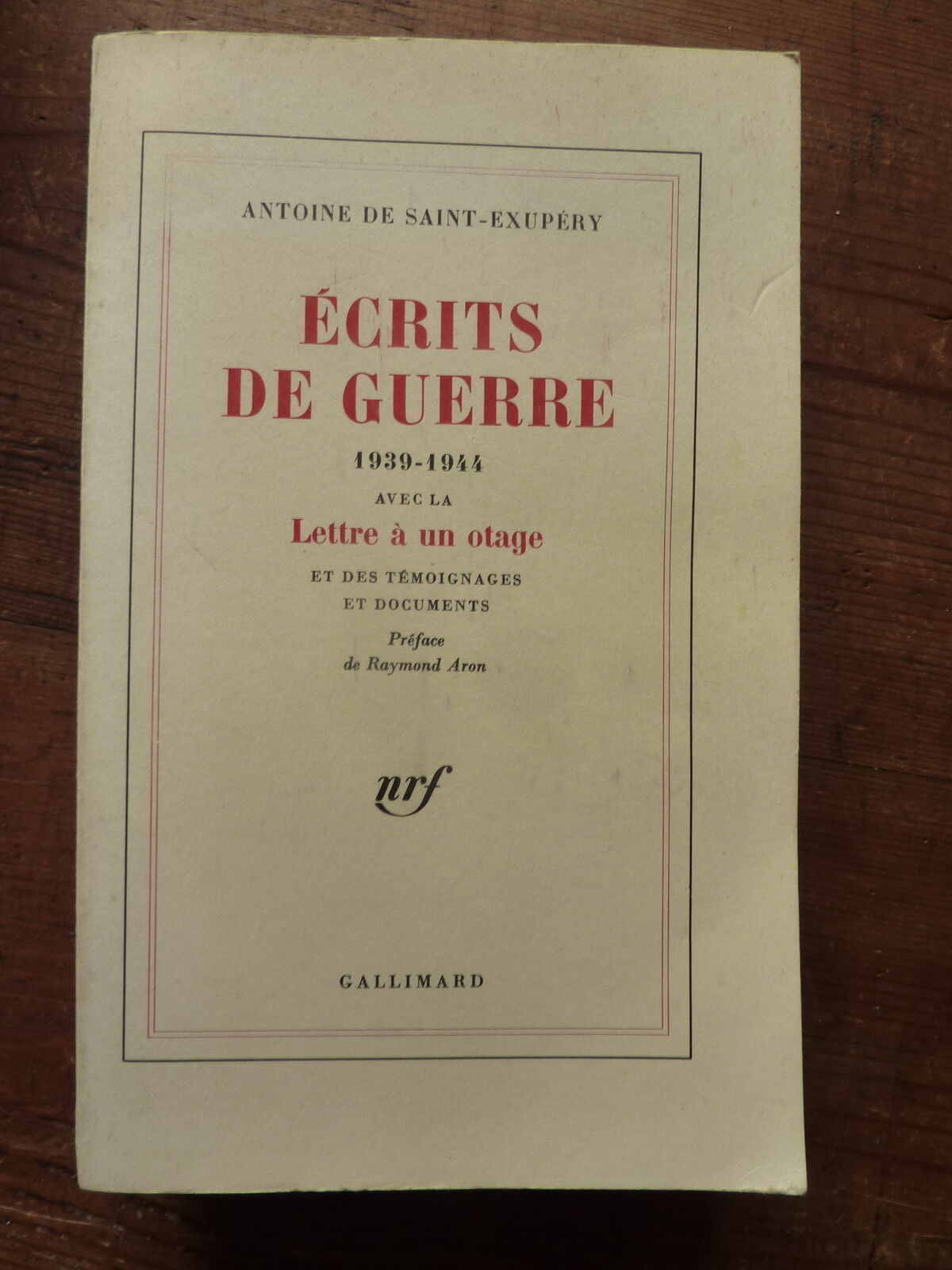 Ecrits de guerre - Gallimard - 11/10/1982