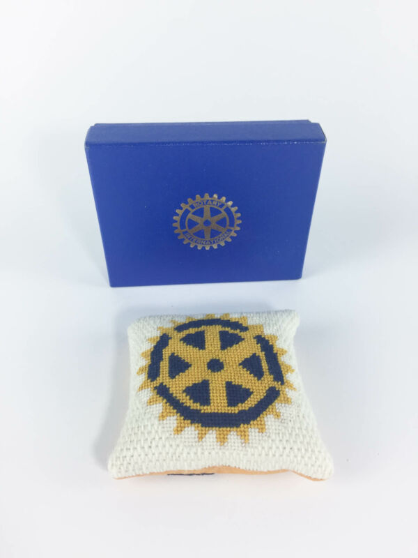 Rotary Cross-Stitched Vintage Paperweight - District 5730