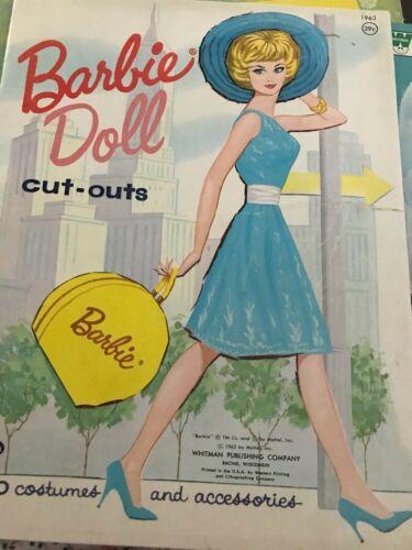 VINTAGE 1962 BARBIE PAPER DOLLS Exce. Cond. UNCUT UNUSED WHITMAN COLLECTIBLE