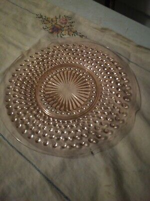 Depression Hobnail - ANCHOR HOCKING PINK HOBNAIL Depression Glass, Luncheon Plate