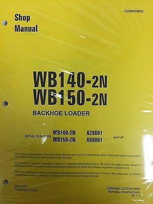 Komatsu Wb140ps-2n Wb150ps-2n Backhoe Service Shop Manual