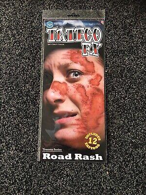 Road Rash Halloween Makeup (Tinsley Transfers Trauma Series Road Rash Halloween Temporary Tattoo Make)