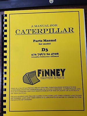 Cat Caterpillar D3 Bulldozer Parts Manual 79u1 To 4708