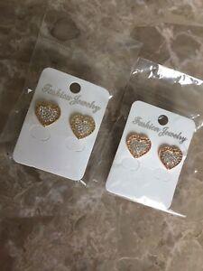 Mk heart earrings