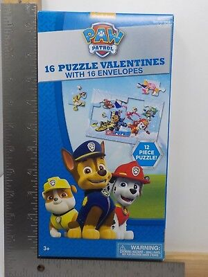 VALENTINES WITH 16 ENVELOPES NEW A15068 (Paw Patrol Valentines)