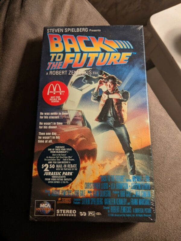 MCDONALDS BACK TO THE FUTURE PROMO VHS MICHAEL J FOX NEW SEALED RARE 1994