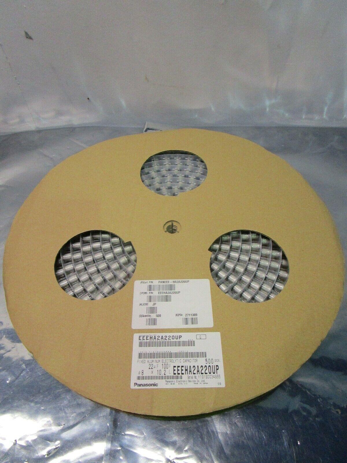 1 Lot of 500 Panasonic EEE-HA2A220UP Cap Aluminum Lytic 22uF 100V 20%, 102322