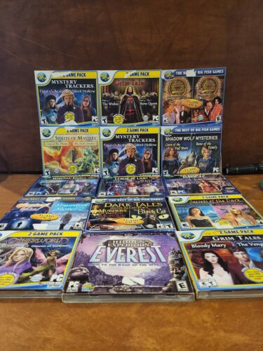 Computer Games - LOT OF 15 PC CD-ROM COMPUTER MYSTERY GAMES * HIDDEN OBJECT COLLECTION