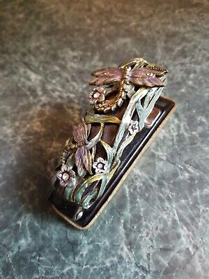 Gorgeous Vintage Mid Century Modern Jeweled Stapler Dragonflies Mcm