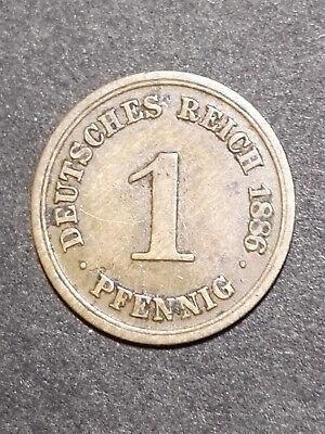 Deutschland 1 Pfennig 1886 D