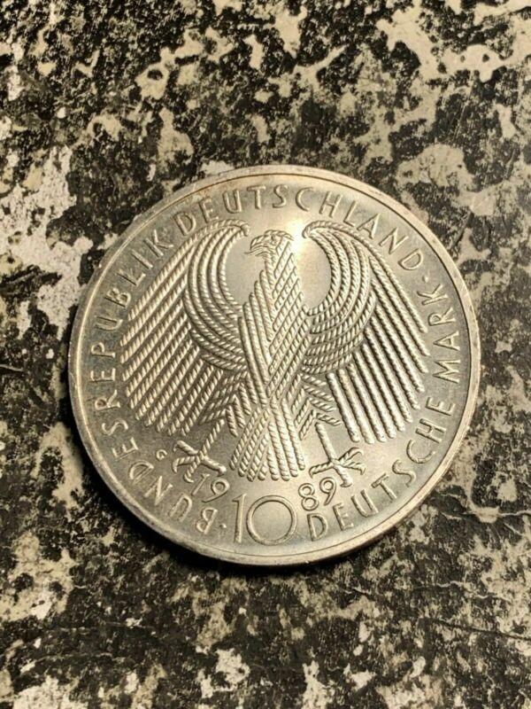 1989-G West Germany 10 Mark Lot#Q8416 Silver! High Grade! Beautiful!