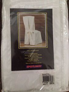 Dining Chair Covers White Croydon North Maroondah Area Preview