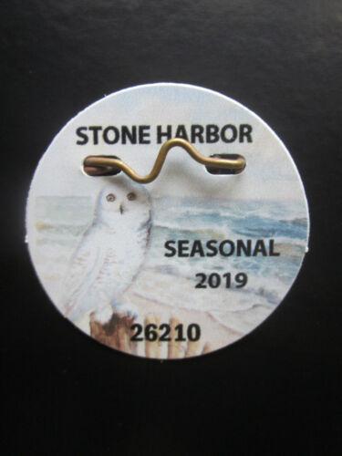 2019  STONE   HARBOR   NEW  JERSEY SEASONAL  BEACH  BADGE/TAG  NEVER  USED