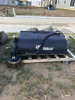 Bobcat Bucket Sweeper Attachment 60 With Gutter Sweeper