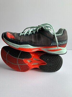 Babolat Jet Team AC Grey/Blue/Orange Women's Shoes Size9 - FREE String & Grip (Tennis-schuhe Strings)