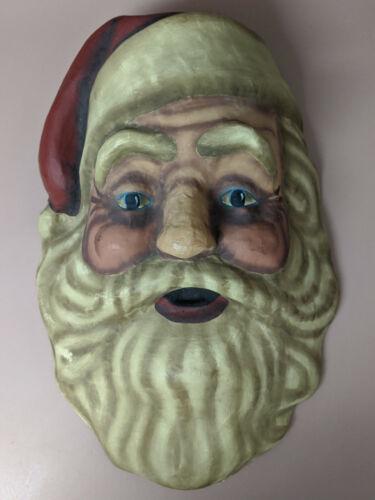 Vintage Large Santa Clause Paper Mache Mask