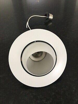 Juno Recessed Lighting 18-WH (18 WH)  Mini Eyeball Trim, White Trim Mini Recessed Eyeball Trim