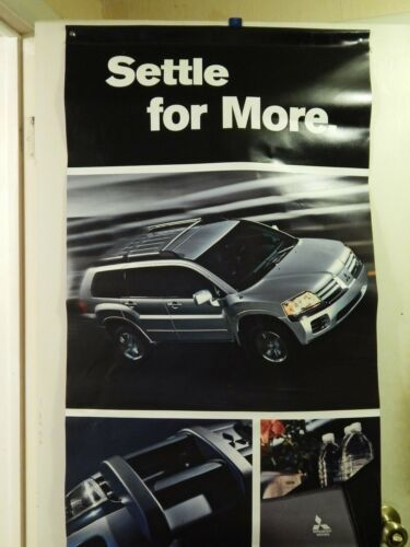Mitsubishi Motors_Genuine Accessories (Double Sided VINYL WALL POSTER) Ltd Promo