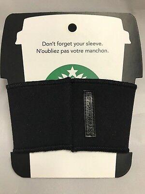 Starbucks Reusable Cup Sleeve 2012 ~ Black With Starbucks Trademark