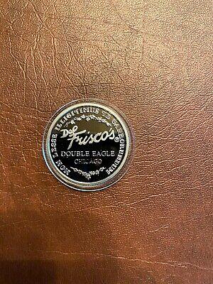 Rare Del Frisco's .999 Pure Silver Double Eagle Coin - Chicago