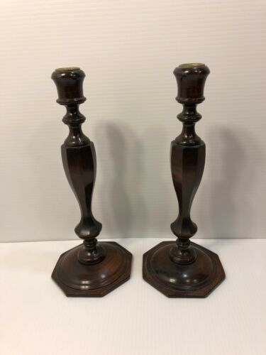 Beautiful Mahogany candlesticks