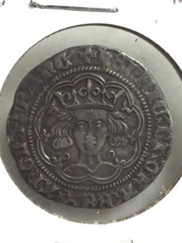 1422-30 BREAT BRITAIN HENRY VI 4 PENCE SILVER GROAT