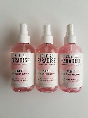 3 x Isle Of Paradise Prep It Self Tan Priming Spray Organic Vegan Friendly 200ml