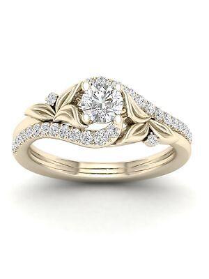 Tdw Diamond Promise Ring - 14k Yellow Gold 5/8ct TDW Diamond Bypass Promise Ring