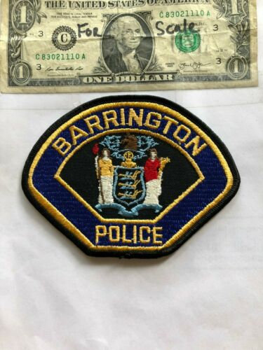 Barrington New Jersey Police Patch un-sewn in Great Shape