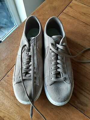 Nike Blazer Low Top UK9 Brown Trainers Shoes Mens